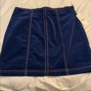 Pacsun faux denim//blue mini skirt